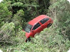 Car Crash on Gravel Road